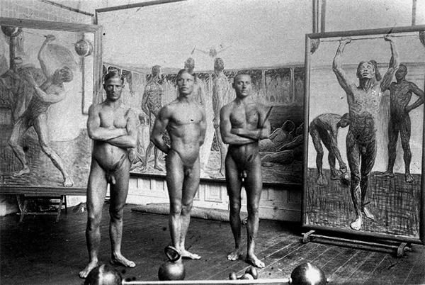 nakna gymnaster